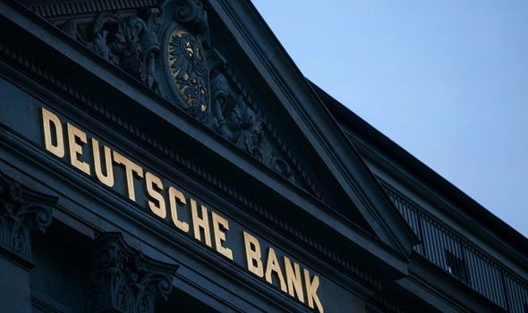 Stock markets falling due to turmoil over fears for Germanys top Banks