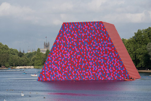A new, large-scale sculpture is making waves on The Serpentine