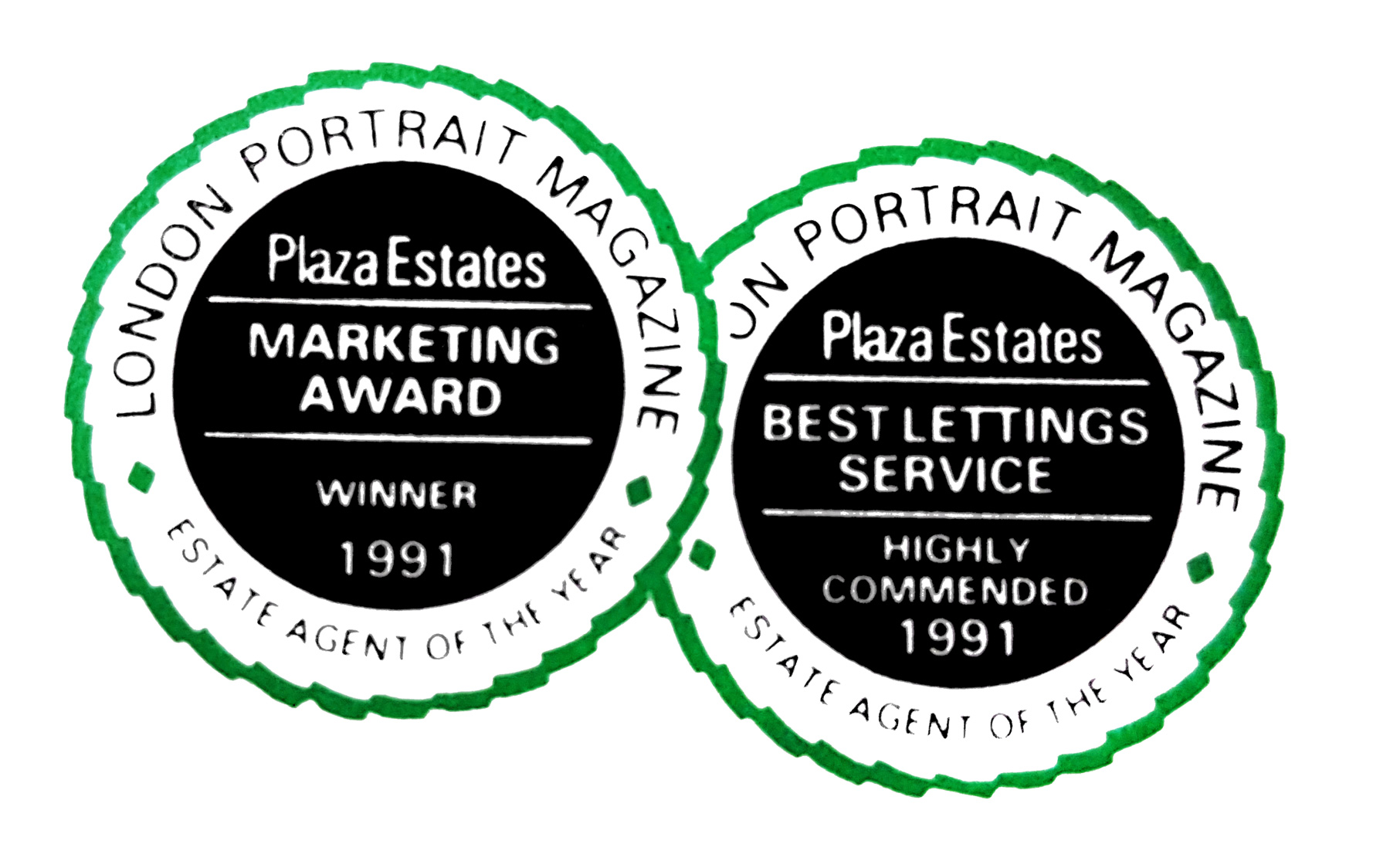 To give you a taste we wanted to share our MARKETING AWARD & BEST LETTING SERVICE that we won 1991 :