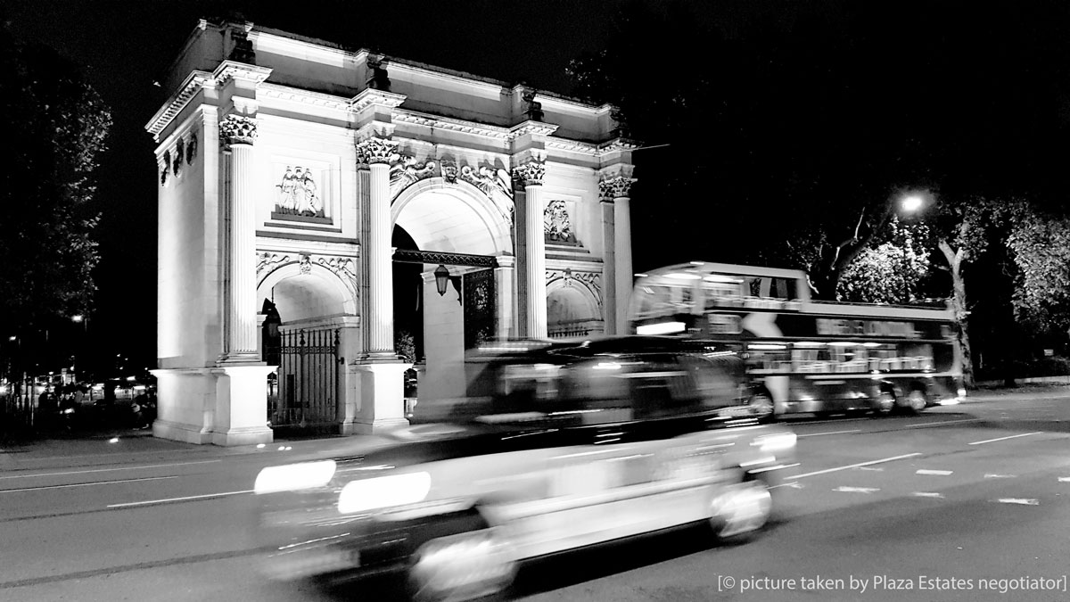 Marble Arch is one of London's best-known monuments.