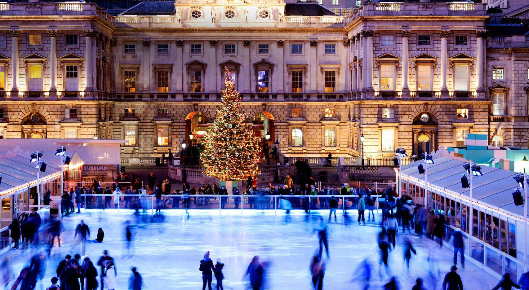 The most famous ice rink in London, the Somerset House Rink